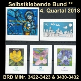 FRG MiNo. 3422-3432 ** Self-adhesives Germany Q4 2018, MNH