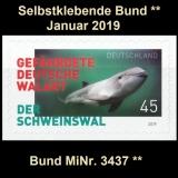 FRG MiNo. 3437 ** Self-Adhesives Germany January 2019, MNH
