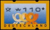FRG MiNr. ATM 3, 110 German pfennig ** Frama labels: post horn, MNH