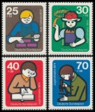 FRG MiNo. 800-803 set ** Youth 1974: International youth work, MNH