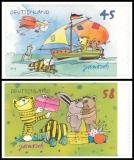 FRG MiNo. 2995-2996 set ** Janosch drawings, MNH, self-adhesive