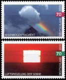 FRG MiNo. 3441-3442 set ** Air reflection sun & Rainbow fragment, MNH