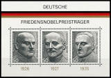 FRG MiNo. Block 11 (871-873) ** German Nobel Peace Prize Laureates, MNH