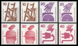 FRG MiNo. 695C-699D set ** Prevention of Accidents (I), cut top and bottom, MNH
