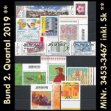 FRG MiNo. 3453-3467 ** New issues Q2 2019, MNH, incl. self-adhesives