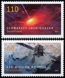 FRG MiNo. 3476-3477 set ** series Astrophysics: Rosetta & Black Hole, MNH