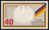 FRG MiNo. 807 ** 25 years Federal Republic of Germany, from block 10, MNH