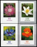 FRG MiNo. 3481-3484 set ** permanent series flowers, self-adhesive, MNH