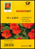 FRG MiNo. FB 89 (3482) ** Series Flowers: Nasturtium, foil sheet, self-adh., MNH