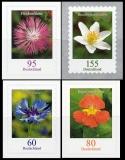 FRG MiNo. 3481-3484 set ** permanent series flowers, self-adhesive, MNH