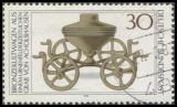 FRG MiNo. 897 O Archaeological Treasures (I): Bronze ritual chariot, postmarked