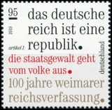 FRG MiNo. 3488 ** 100 years of the Weimar Reich Constitution, MNH