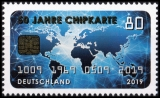 FRG MiNo. 3494 ** 50 years chip card, MNH