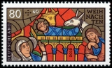FRG MiNo. 3495 ** Series Christmas 2019: Church window - Birth of Christ, MNH