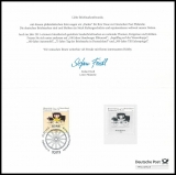 FRG MiNo. 2806 Historical Stagecoach, first day cancellation, philatelic thank you