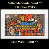 FRG MiNo. 3500 ** Self-Adhesives Germany October 2019, MNH