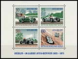 Berlin MiNo. Block 3 (397-400) ** 50 years of AVUS racing, sheet, MNH