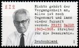 FRG MiNo. 3502 ** Series Upright Democrats: Fritz Bauer, MNH
