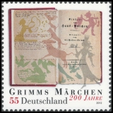 FRG MiNo. 2938 ** 200 years Grimms Fairy Tales, MNH