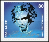 FRG MiNo. 3520 ** 250th birthday of Ludwig van Beethoven, self-adhesive, MNH
