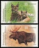 FRG MiNo. 2913-2914 set ** Recolonization by native wild animals, MNH
