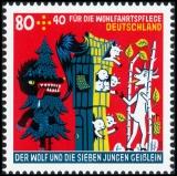 BRD MiNr. 3522-3524 Satz ** Wohlfahrt 2020: Der Wolf und die 7 Geißlein, postfr.