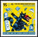 FRG MiNo. 3522-3524 set ** Welfare 2020: The wolf and the 7 young goats, MNH