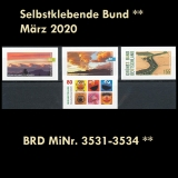FRG MiNo. 3531-3534 ** Self-Adhesives Germany March 2020, MNH