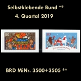 FRG MiNo. 3500-3505 ** Self-adhesives Germany Q4 2019, MNH
