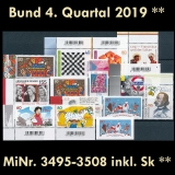 FRG MiNo. 3495-3508 ** New issues Q4 2019, MNH, incl. self-adhesives