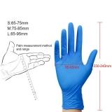 Disposable gloves nitrile Size L blue for Household Medicine Food Garden