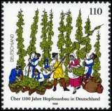 FRG MiNo. 1999 ** 1100 years of hop cultivation in Germany, MNH