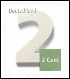 FRG MiNo. 3045 ** Numeral 2 Euro cent, MNH, self-adhesive